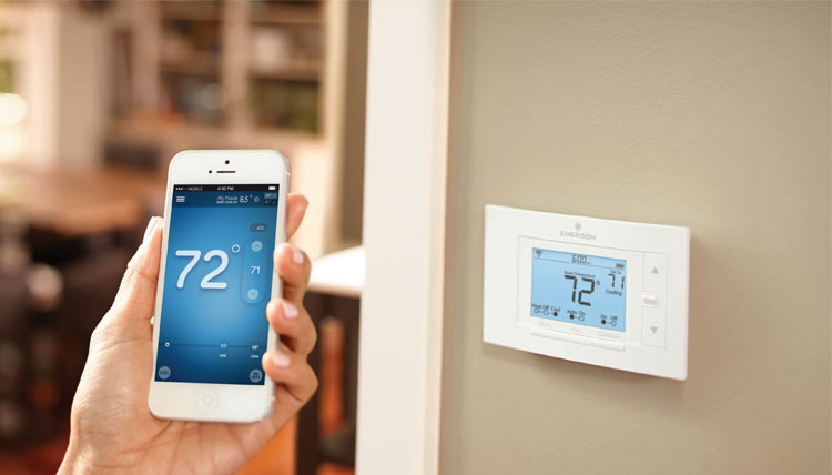 Best Smart Thermostats Sensi Smart Thermostat and Phone