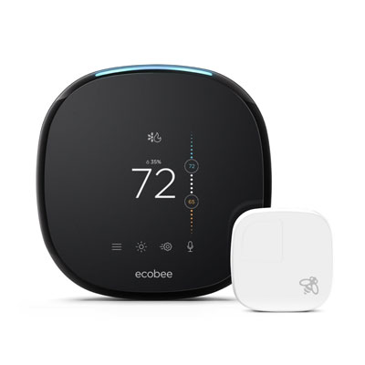 Best Smart Thermostats EcoBee4 Alexa Enabled Smart Thermostat